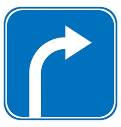 Turn right ahead sign vector