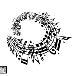 Expressive groove concept Black and white design vector image