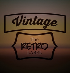 Retro and Vintage label vector image