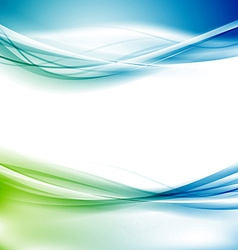 Bright abstract border swoosh layout vector