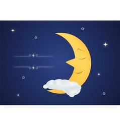 Fairytale sleeping moon vector