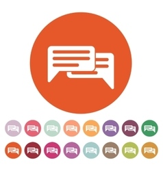 The chat icon internet and forum blog online vector