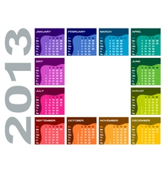 Colorful calendar 2013 vector