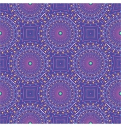 Seamless pattern with dotted circles vector