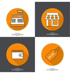Set of icons pictograms vector