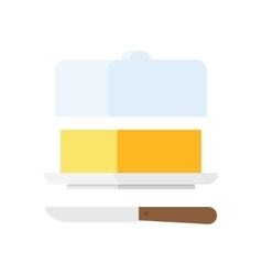 Butter stick with knife vector