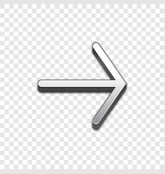 arrow 3d icon raised symbol vector image vector image