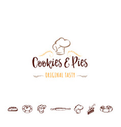 badge for small businesses - cookies and pies the vector image vector image