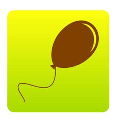 Balloon sign brown icon at vector