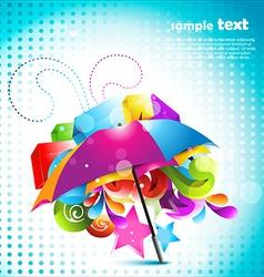 Beautiful umbrella design vector
