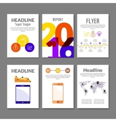 Business Flyer set Brochure with infographics vector image vector image