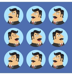 Business Shareholder Icon Set vector image vector image