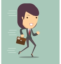 business woman running vector image vector image