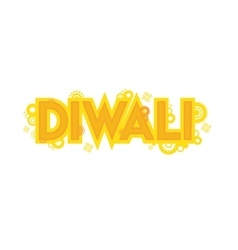 Card design for diwali festival indian vector