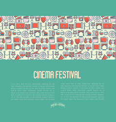 Cinema festival concept contains seamless pattern vector