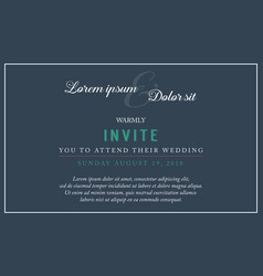 Collection stock of wedding style invitation vector