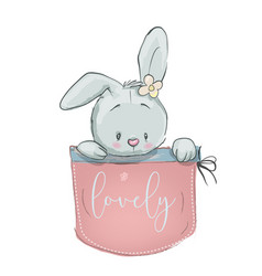 Cute cartoon hare vector