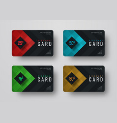 Design a gift black card with diamond-shaped vector