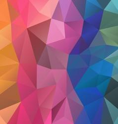 Full color spectrum rainbow polygon triangular vector