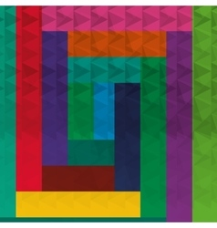 Geometric multicolor block background patterns vector