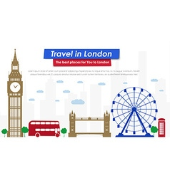 Header template london scenery vector