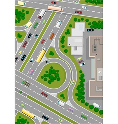 highway intersection vector image