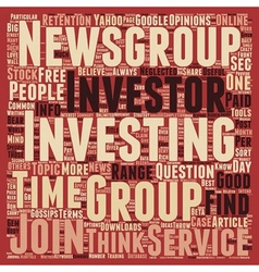 Investment newsgroup a hidden gem for investors vector