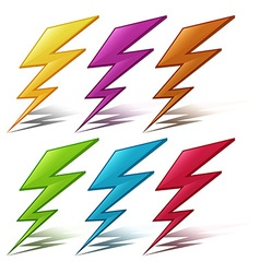 Lightening bolt vector image vector image