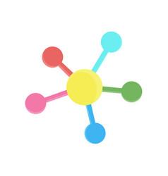 network icon social connection media circle vector image vector image
