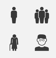 people icons set collection of member scientist vector image vector image