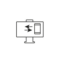 Phone computer connection icon vector