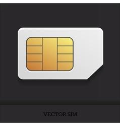 Realistic sim card vector image vector image