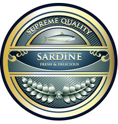Sardine gold icon vector