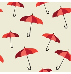 Seamless pattern with red umbrellas vector image vector image