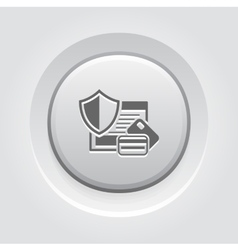Secure transaction icon vector