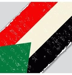 Sudanese grunge flag vector