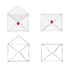 Valentines day receiving or sending love emails vector