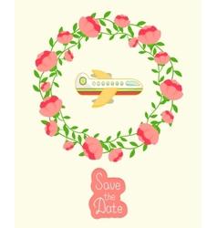 Wedding invitation vector image