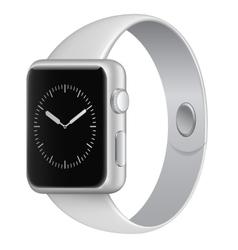 White wristwatch vector