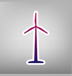 wind turbine logo or sign purple gradient vector image vector image