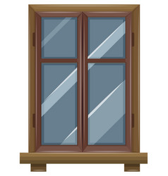window with wooden frame vector image vector image