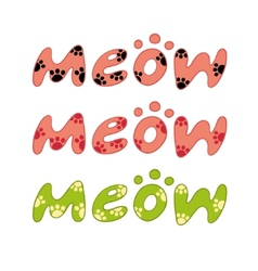 Word meow vector