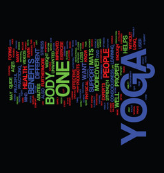 Yoga products text background word cloud concept vector