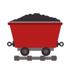 Mining train cargo icon vector