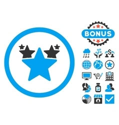 Hit parade flat icon with bonus vector