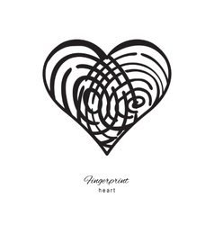 Fingerprint heart icon vector