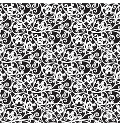 Floral lace pattern vector image