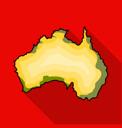territory of australia icon in flat style isolated vector image