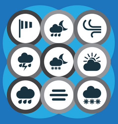 Weather icons set collection of haze nightly vector