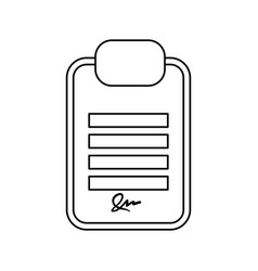 Board signature document vector